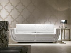 Dahlia 366D, Canapé en cuir blanc