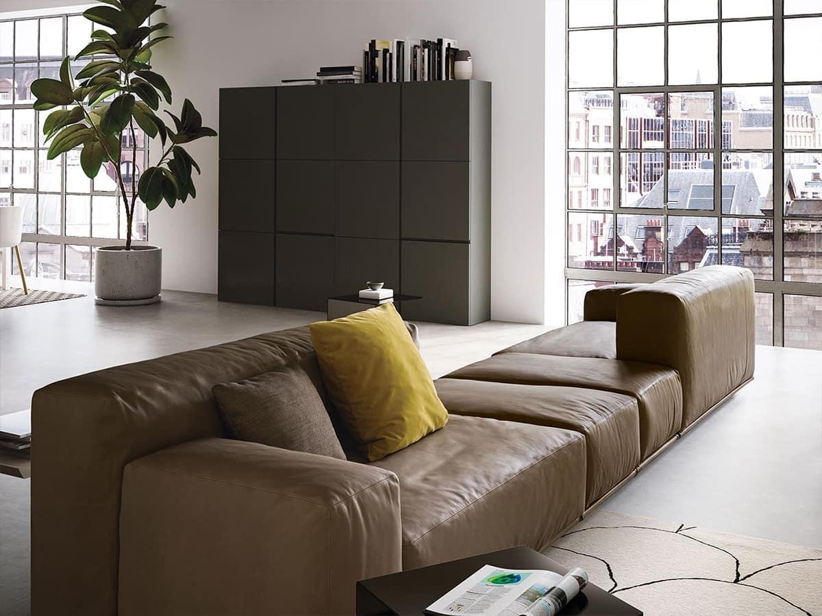 Delano, Canapé moderne avec 2 niveaux de dos