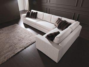 Dile, Canapé modulable moderne, fait sur mesure, pour le salon