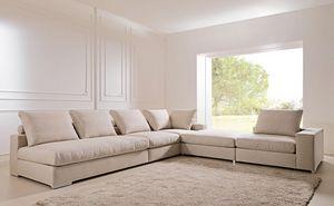 Domino, Canapé amovible et modulaire, pour le studio et le salon
