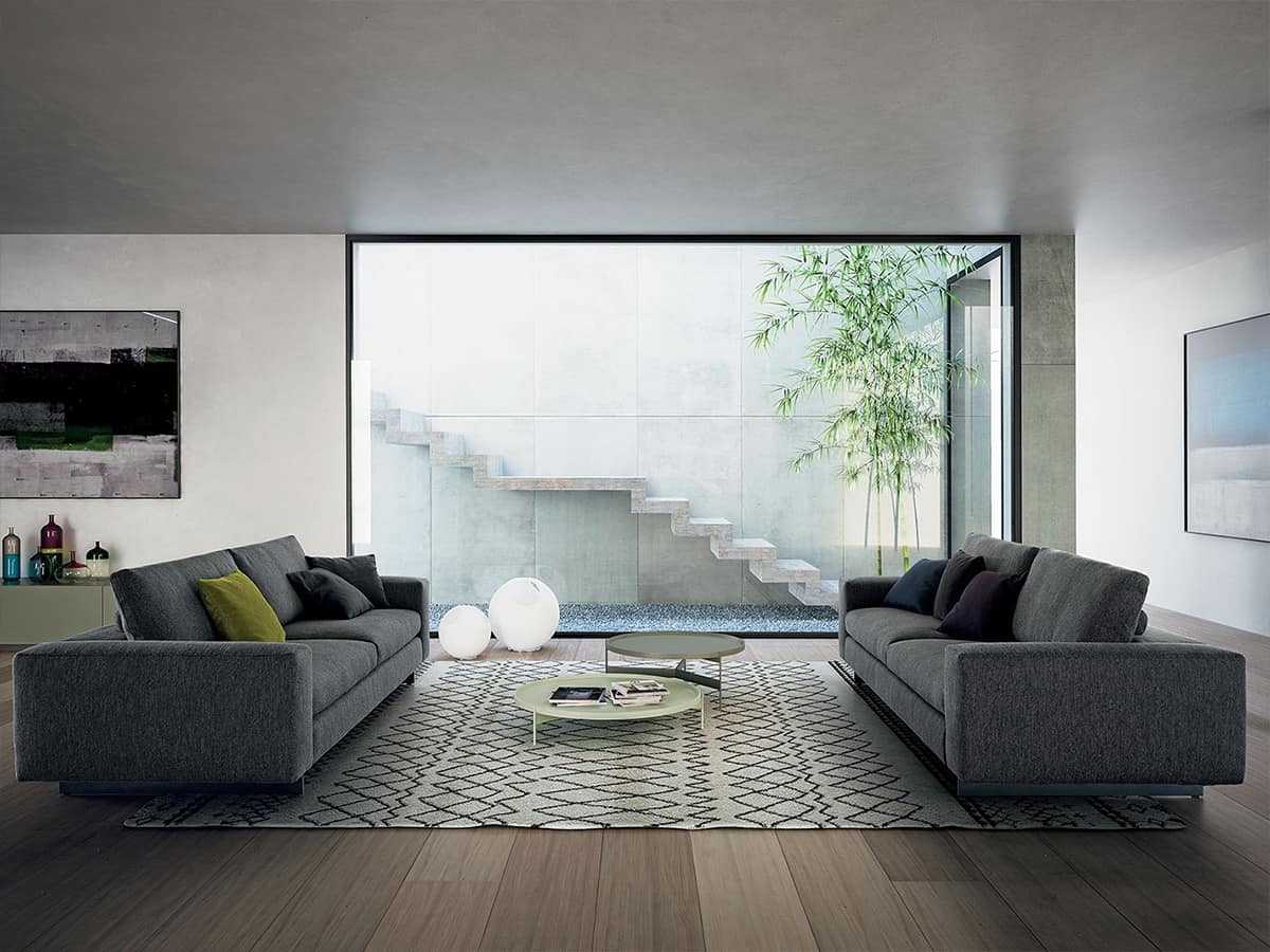 Duo, Canapé modulaire avec dossier inclinable
