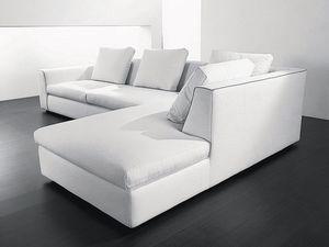 Free corner, Canapé d'angle en fibres de bois, polyuréthane et acrylique