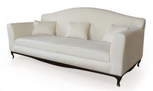 Ghirigori divano, Canapé en bois, rembourré avec caoutchouc, des jambes de fer