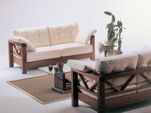 Hollywood, Canapé avec le bois exposé, conception simple, pour les combles