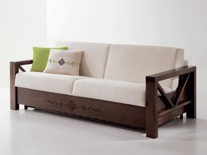 Hollywood personnalisé 01, Canapé confortable avec cadre en bois personnalisable