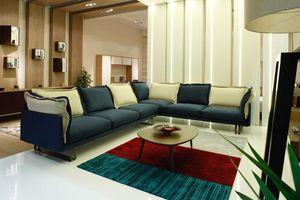JAZZ, Sofa sectionnel avec structure en traîneau
