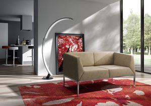 Kos canapé, Canapé avec pieds en métal pour les salles modernes