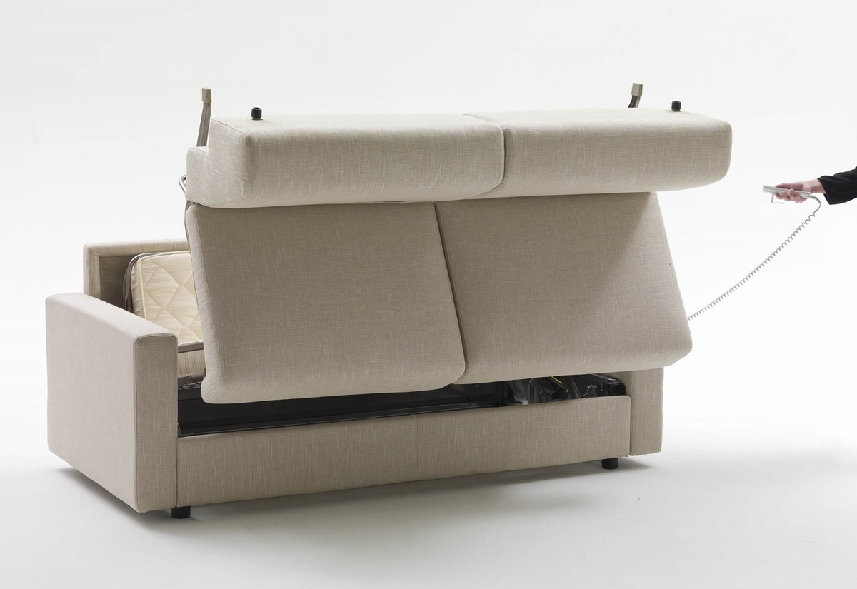 Lampo, Canapé-lit avec accoudoirs personnalisables