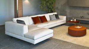 Lario angulaire, Canapé modulable, au design moderne