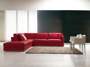 Levian, Canapé d'angle en stile contemporain, pour le salon
