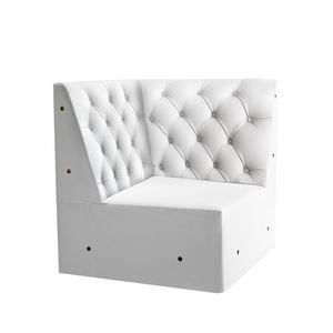 Linear 02456K, Banc de coin modulaires bas, pieds en bois massif, assise, dossier capitonné, pieds en bois, de style moderne
