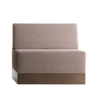 Linear 02482, Faible banc modulable, base stratifié, assise et dossier rembourrés, revêtement en tissu, style moderne