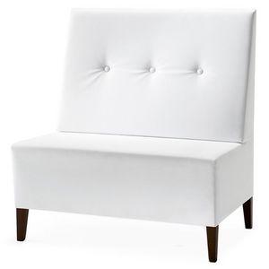 Linear 02951 - 02953, Haute Banc modulable, pieds en bois, assise et dossier rembourrés, revêtement en tissu, style moderne
