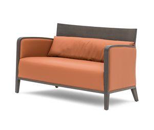 Logica 00952, Canapé en bois massif pour se détendre et zones d'attente