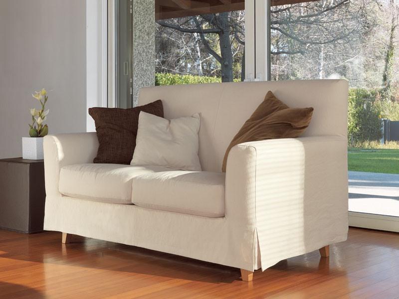 Maiorca, Canapé linéaire, pieds en hêtre massif, pour le salon moderne