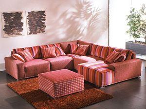Mino, Canapé d'angle repositionnables, couvercles amovibles, pour des séjours