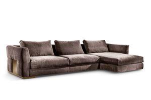 Montecarlo canapé d'angle, Canapé d'angle pour les environnements classiques et modernes
