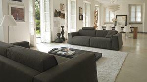 Parker, Canapé-lit moderne, avec revêtement amovible