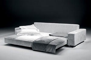 Poker, Canapé-lit, en bois et en polyuréthane, pour les chalets de montagne