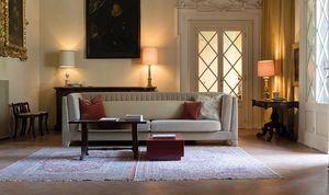 Riva Canapé, Canapé contemporain entièrement recouvert de tissu