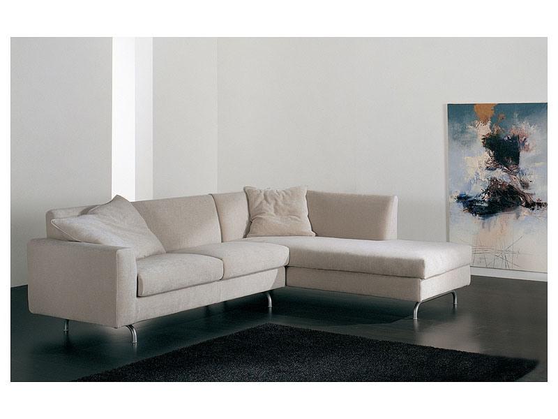 Step corner, Canapé d'angle avec chaise longue, rembourrées, différentes finitions