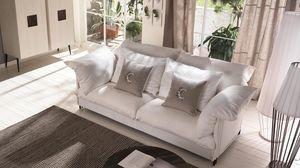 Tango canapé, Canapé avec structure en métal, revêtement personnalisable
