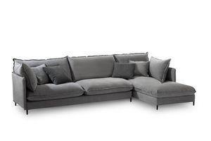 Tango Easy, Canapé d'angle moderne, structure en bois, pour les salles de vie