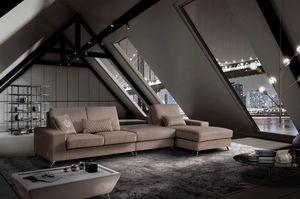VOJAGER, Canapé moderne, modulable, avec revêtement amovible