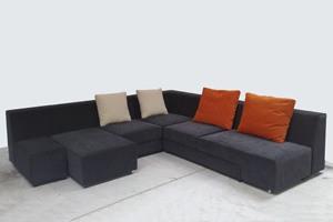 Zapping, Canapé moderne avec siège tournant, déhoussable