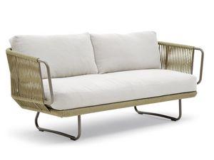 Babylon canapé, Élégant canapé, en aluminium et corde, pour l'extérieur