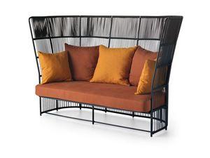 Tibidabo haute canapé, Canapé d'extérieur élégant, avec tissé haute-dossier