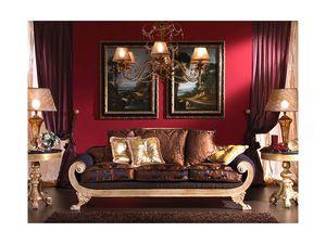 3470 SOFA, Canapé 3 places, style Empire, pour salon classique