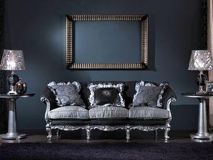 715 SOFA, Canapé 3 places, style classique de luxe sculpté à la main