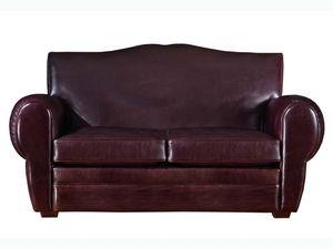 Alberto Canapé, Classique canapé en cuir de luxe, pour divers environnements