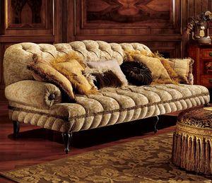 Albina sofa, Canapé trois places avec rembourrage matelassé