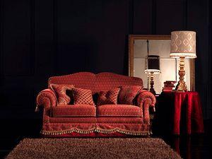 Alessandra, Fuligule canapé, 2 places, fait sur mesure, pour le salon