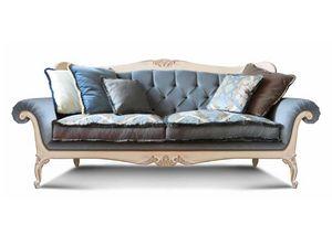 Art. 1060, Canapé de luxe, avec des détails sculptés à la main, le dossier touffeté, pour le salon et hôtels