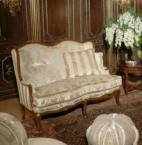 Art. 1075, Canapé de luxe, recouvert de velours et de soie, fait main