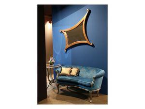 Art. 1618 Milo, Canapé luxe classique, revêtement de velours, pour hall
