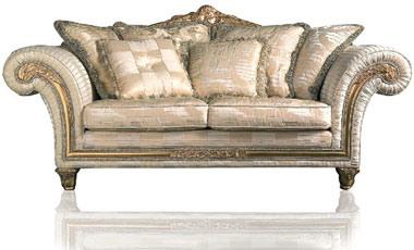 Art. IM 22 Imperial, Canapé classique de luxe, rembourrés avec des tissus précieux amovibles