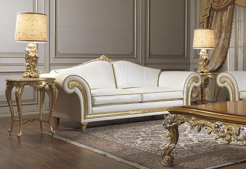 Art. IM 23 Imperial, Canapé de luxe, caractérisé par l'artisanat sculpté moulures avec baroqe et feuilles d'or