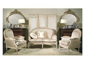 Art. RI 82 Rialto, Luxe canapé classique, une reproduction du XVIIIe siècle