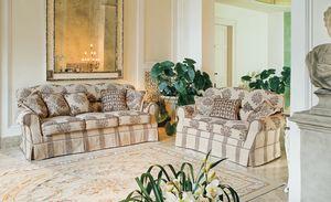 Bacio, Canapé rembourré dans le style de luxe classique pour le salon