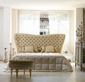Bramante, Classique lit, tête de lit matelassé, main