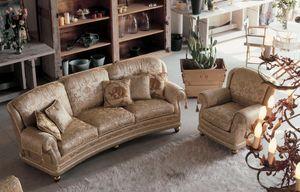 Camilla Ring, Rembourré canapé 3 places dans le style de luxe classique