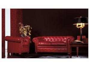 Chester, Canapé classique adapté pour salon