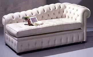 Chester, Boutonnée canapé, pour le luxe classique salon, en cuir