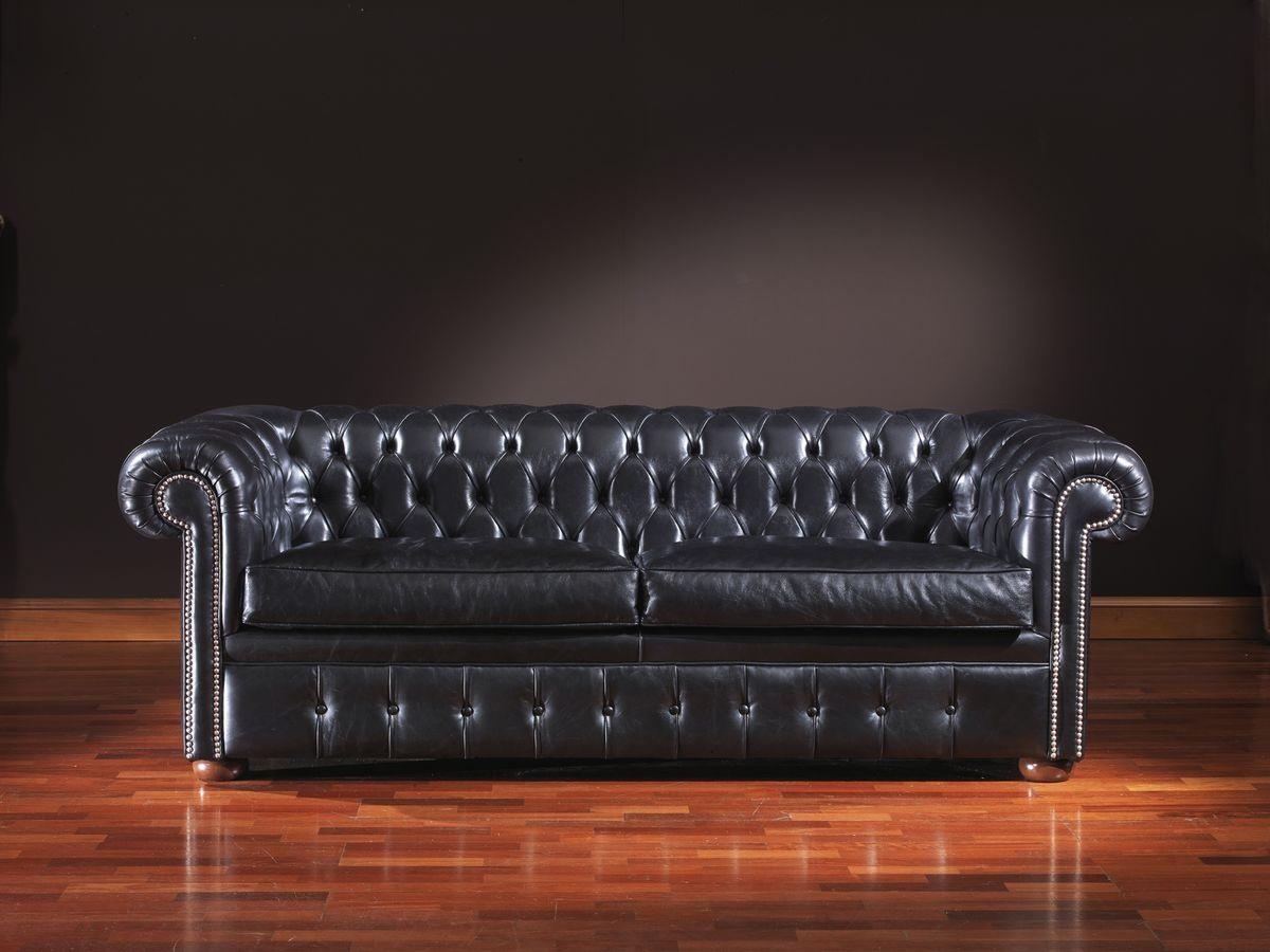 Chesterfield, Canapé en cuir intemporel adapté pour les environnements de bureaux et d'habitation