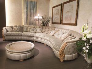 Cleos modulaire, Canapé modulable adapté pour les villas de luxe