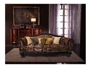 Cristina, Canapé de luxe recouvert de soie, fait main